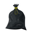plastic garbage bag with rope icon vector image vector image