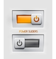 power sliders modern icons vector image
