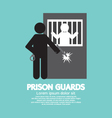 Prison Guards Symbol vector image vector image