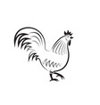rooster design on white background easy editable vector image vector image