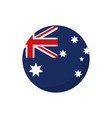 round flag button australia icon on white vector image