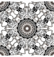 royal baroque seamless pattern black and white vector image vector image