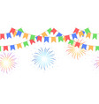 seamless garland with celebration flags chain vector image