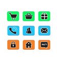 set of e-commerce icon web button icons contact vector image