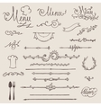 set of vintage design elements decoration vector image