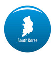 south korea map in black simple vector image vector image
