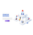 startup business design concept with people vector image vector image