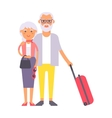 Summer old couple people vector image