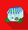 supermarket icon in flate style isolated on white vector image vector image