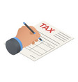 tax form icon isometric style vector image