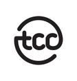 tcc initial geometric logo vector image vector image