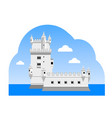 the belem tower vector image vector image