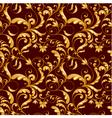 Tiling flower texture gold vector image