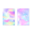 unicorn background with kawaii magic gradient vector image vector image