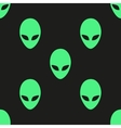 Universal alien heads seamless patterns vector image vector image