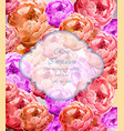 vintage rose flowers card retro beautiful vector image