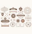 vintage sign borders elegant frame luxurious old vector image vector image