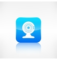 Web camera icon Application button vector image