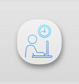 working hours app icon vector image vector image