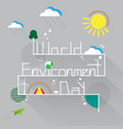 world environment day with eco and nature concept vector image