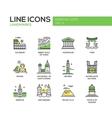 World landmarks icons set vector image vector image