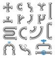 steel pipes details constructor set vector image