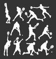 tennis player silhouettes vector image