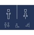 Toilet symbols vector image