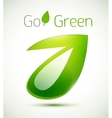 3d green leaf nature concept vector image