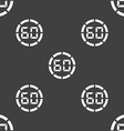 60 second stopwatch icon sign Seamless pattern on vector image vector image