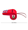 A Beautiful Red Whistle of Bermuda Flag vector image