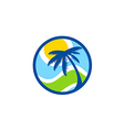 abstract beach palm tree tropic logo vector image vector image