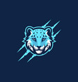 abstract head tiger template vector image