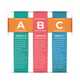 abstract paper infographic template with 3 options vector image