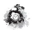 background with a clock vector image vector image