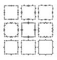 black line square art deco frames set - group 2 vector image vector image