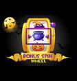 bonus spin halloween golden wheel vector image vector image