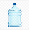 bottle with clean fresh water on a transparent vector image