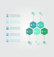 business economy infographic elements vector image vector image