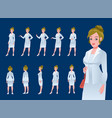 businesswoman character model sheet vector image vector image