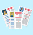 career information leaflet flat concept vector image