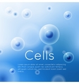 Cells on blue background group of cells vector image