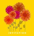 chrysanthemum flower element vector image vector image