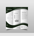 collection of tri-fold brochure design templates vector image vector image
