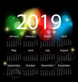 colorful calendar design vector image vector image