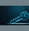 concept of cyber security or private key abstract vector image vector image