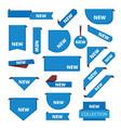 corner labels promotional sticker tab bar for vector image