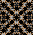 Dark seamless geometric pattern in Celtic style vector image vector image