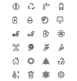 Ecology Line Icons 2 vector image vector image