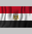 egypt realistic waving flag national country vector image vector image